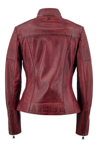 Chole - Lamb Copper Leather - Women - Red / Læder Skinds Jakke - Levinsky - Kvinde | STAMPE PELS