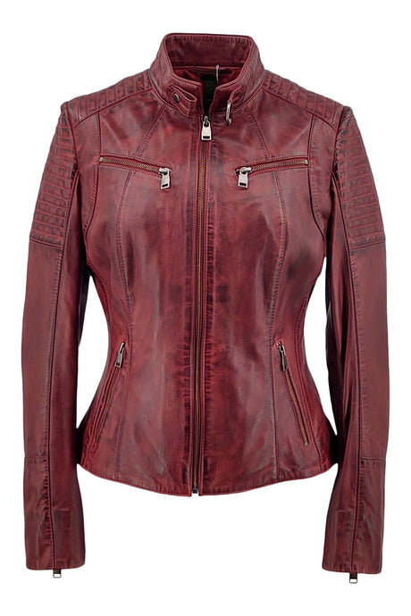 Chole - Lamb Copper Leather - Women - Red | STAMPE PELS