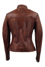 Load image into Gallery viewer, Chole - Lamb Copper Leather - Women - Brown / Læder Skinds Jakke - Levinsky - Kvinde | STAMPE PELS