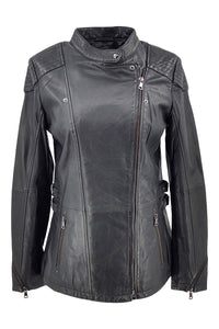 Floyd - Lamb Eco Leather - Women - Black / Læder Skinds Jakke - Levinsky - Kvinde | STAMPE PELS