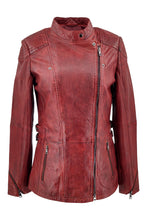 Load image into Gallery viewer, Floyd - Lamb Copper Leather - Women - Red / Læder Skinds Jakke - Levinsky - Kvinde | STAMPE PELS
