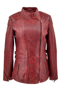 Floyd - Lamb Copper Leather - Women - Red / Læder Skinds Jakke - Levinsky - Kvinde | STAMPE PELS