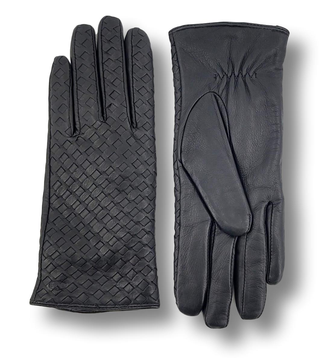 MJM Glove Liva - Leather - Accesories - Black | STAMPE PELS