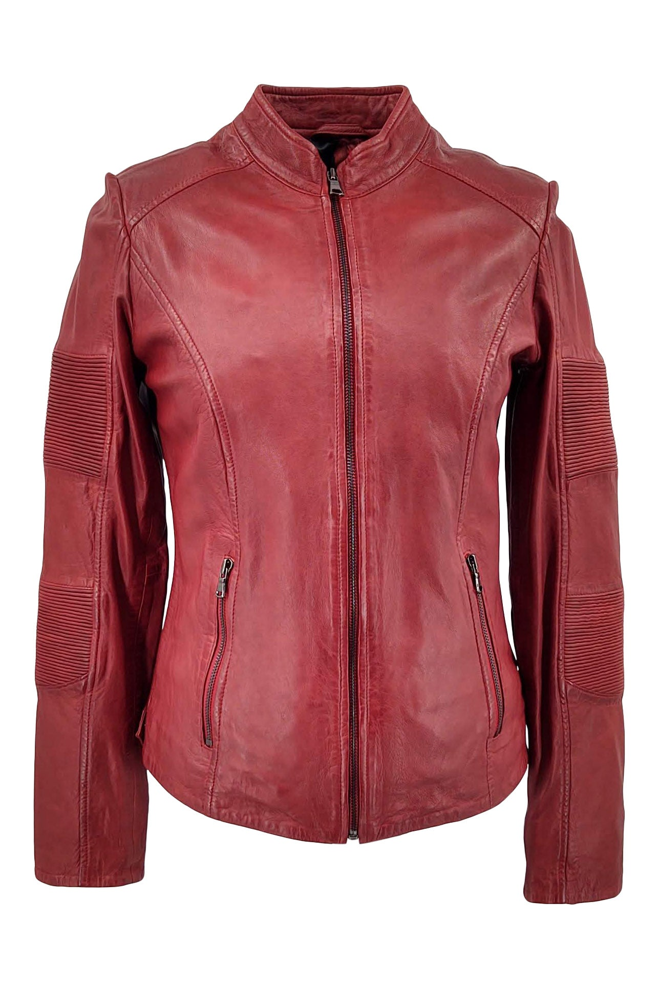 Ridle - Lamb Boss Leather - Women - Red | STAMPE PELS