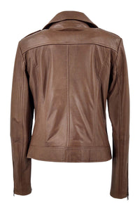Zaffy - Lamb Dace Leather - Women - Earth / Læder Skinds Jakke - Levinsky - Kvinde | STAMPE PELS