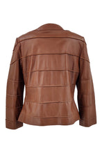 Load image into Gallery viewer, Malou - Lamb Silk Leather - Women - Ita. Cognac / Læder Skinds Jakke - Levinsky - Kvinde | STAMPE PELS