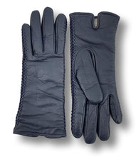 Load image into Gallery viewer, Z-001 Stitch Glove - Leather / Skindhandske - Accesories - Navy | STAMPE PELS