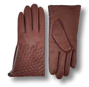 Z-1601 Zip Glove - Leather / Skindhandske - Accesories - Whisky | STAMPE PELS