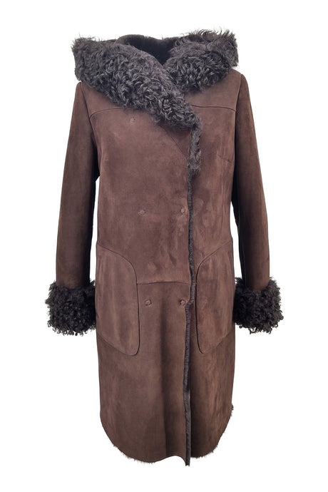 Vanilla - Suede Lamb - Women - Brown | STAMPE PELS