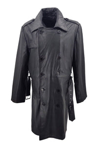Trench - Lamb Boss Leather - Man - Black / Læderjakke | STAMPE PELS