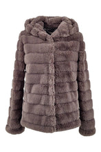 Load image into Gallery viewer, Petrovski, 60 cm. - Hood - 100% Faux Fur - Women - Grey | STAMPE PELS