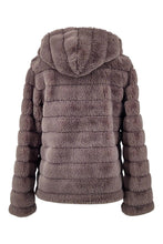 Load image into Gallery viewer, Petrovski, 60 cm. - Hood - 100% Faux Fur - Women - Grey - Stampe Denmark
