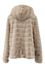 Load image into Gallery viewer, Petrovski, 60 cm. - Hood - 100% Faux Fur - Women - Cream | STAMPE PELS