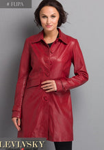 Load image into Gallery viewer, Filipa - Lamb Glove Leather - Women - Red / Læder Skinds Jakke - Levinsky - Kvinde | STAMPE PELS