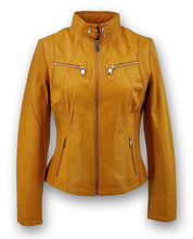 Load image into Gallery viewer, P 14-01 - Lamb Malli Leather - Women - Old Yellow / Læder Skinds Jakke - Levinsky - Kvinde | STAMPE PELS
