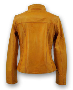 P 14-01 - Lamb Malli Leather - Women - Old Yellow | STAMPE PELS
