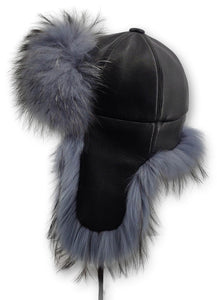 Liu Bing 5 Hat - Leather - Accesories - Black | STAMPE PELS