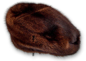 710-83/05 Hat - Mink - Accesories - Mahogany | STAMPE PELS