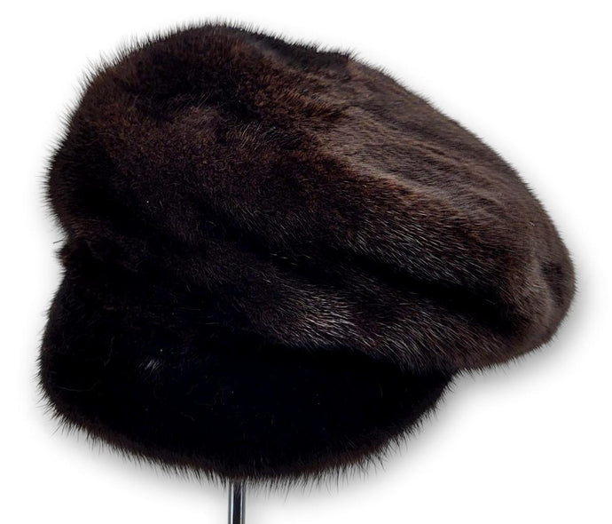 602-83/02, Hat - Mink - Accesories - Scan Black (Hue) | STAMPE PELS