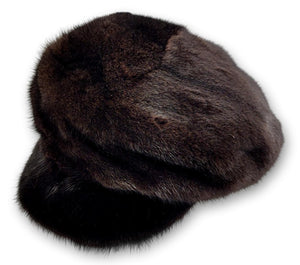 602-83/02, Hat - Mink - Accesories - Scan Black | STAMPE PELS