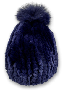 HHB725 Hat - Rex Knitted - Accesories - Navy (Hue) | STAMPE PELS