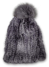 Load image into Gallery viewer, HHB725 Hat - Rex Knitted - Accesories - Light Grey (Hue) | STAMPE PELS