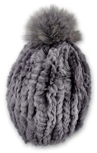 HHB725 Hat - Rex Knitted - Accesories - Light Grey (Hue) | STAMPE PELS