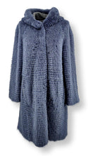 Load image into Gallery viewer, 19-15005, 90 cm. - Hood - Mink & Wool - Women - Skye Blue | STAMPE PELS