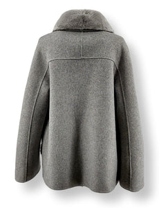 Chambery, 65 cm. - Collar - Double Face Wool - Women - Light Grey | STAMPE PELS