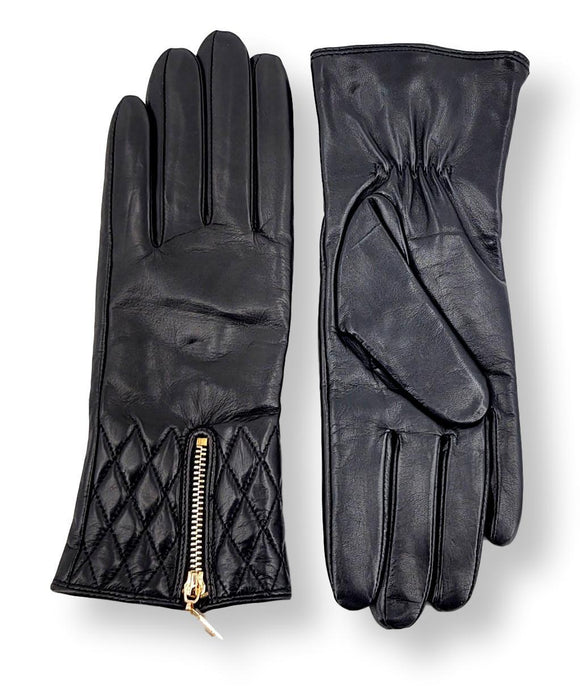 2687 Glove - Leather - Accesories - Black | STAMPE PELS