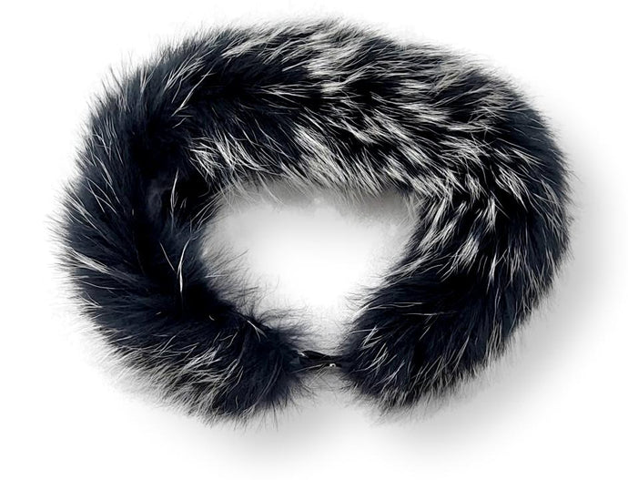 LV Collar - Finn Racoon - Accesories - Black & Silver | STAMPE PELS