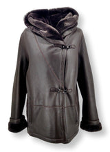 Load image into Gallery viewer, 969, 70 cm. - Hood - Nappa Lamb Crack - Women - Brown | STAMPE PELS