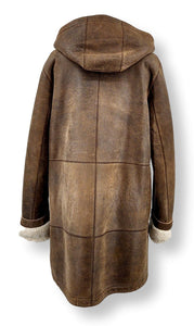 Rinaldi, 85 cm. - Nappa Lamb Crack - Women - Brown | STAMPE PELS