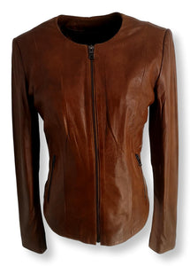P 14-18 - Lamb Glove Leather - Women - Cognac | STAMPE PELS