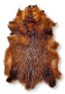 Opossum Brown - Dressed Fur Skin - Fur | STAMPE PELS