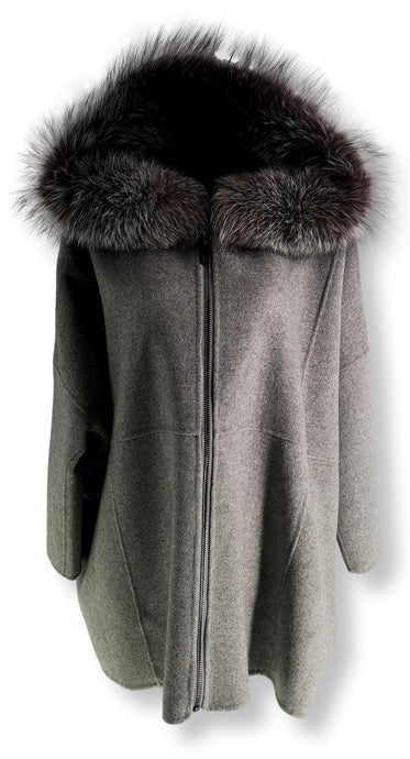 Lev 3, 73 cm. - Wool - Women - Light Grey | STAMPE PELS