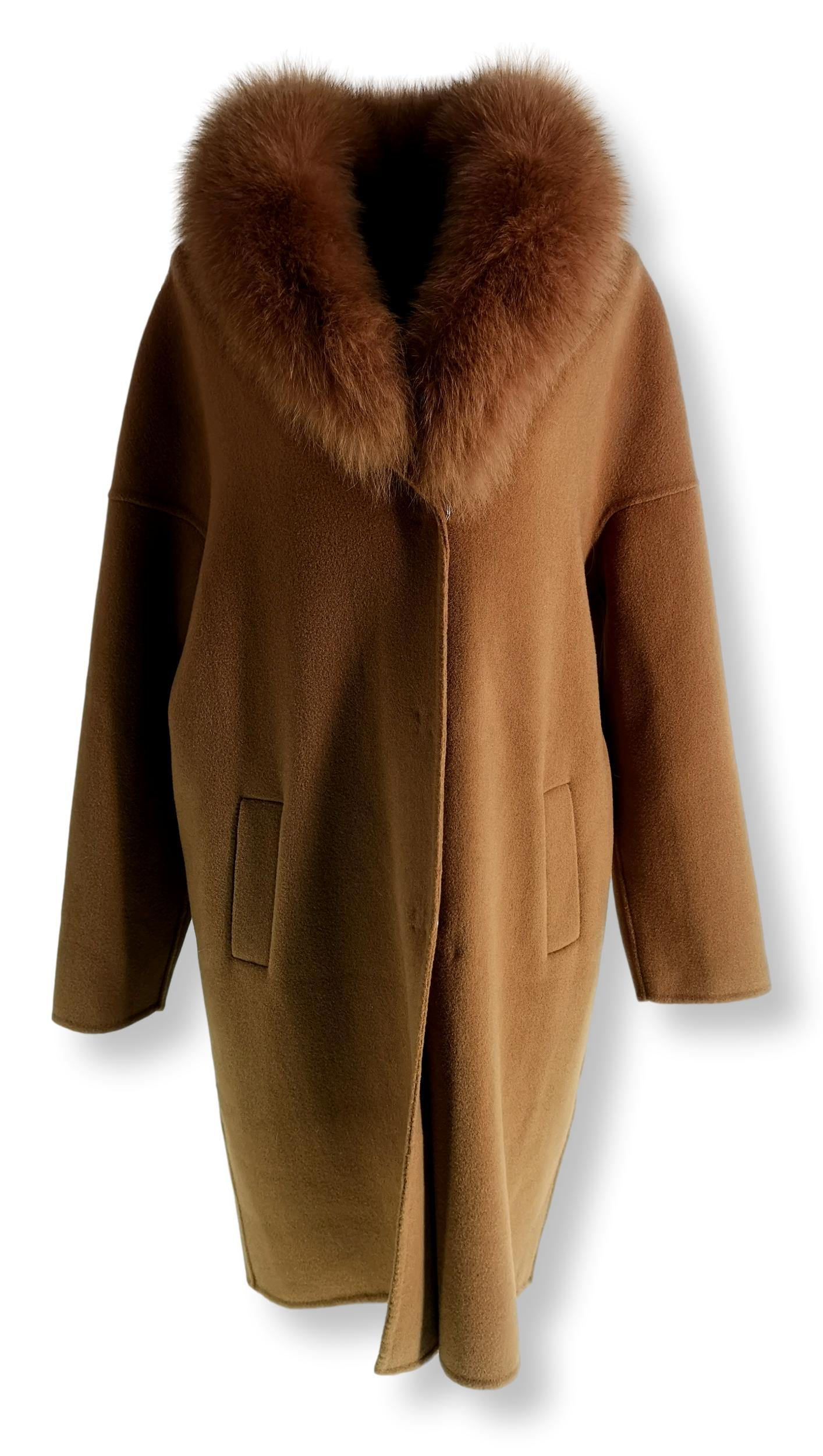Afraic, 95 cm. - Wool - Women - Camel