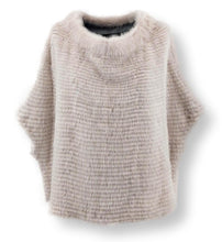 Load image into Gallery viewer, 19-19 Poncho, 60 cm. - Collar - Mink & Wool - Women - Beige