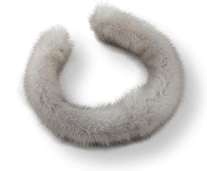 Hairband - Mink - Women - Light Silver Blue