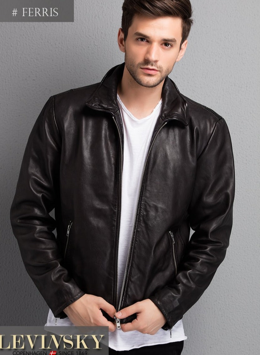 Ferris - Lamb Leather - Man - Black | STAMPE PELS