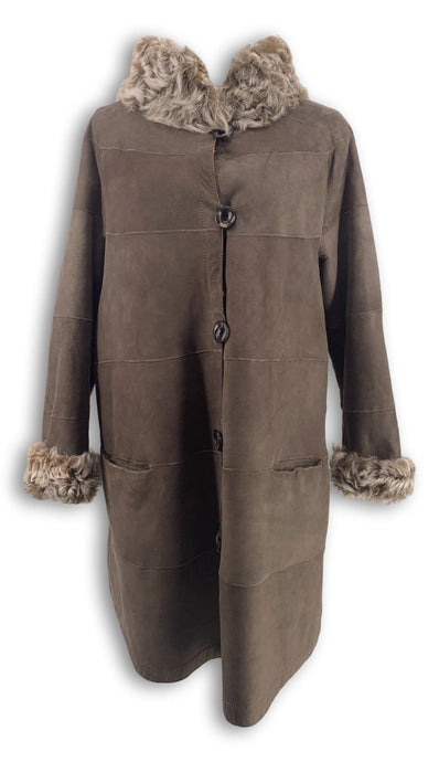 VINTAGE -  Lamb Coat, Dusty Army | STAMPE PELS