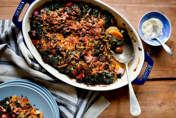 Taproot At Home :: Sausage, Kale & Potato Casserole