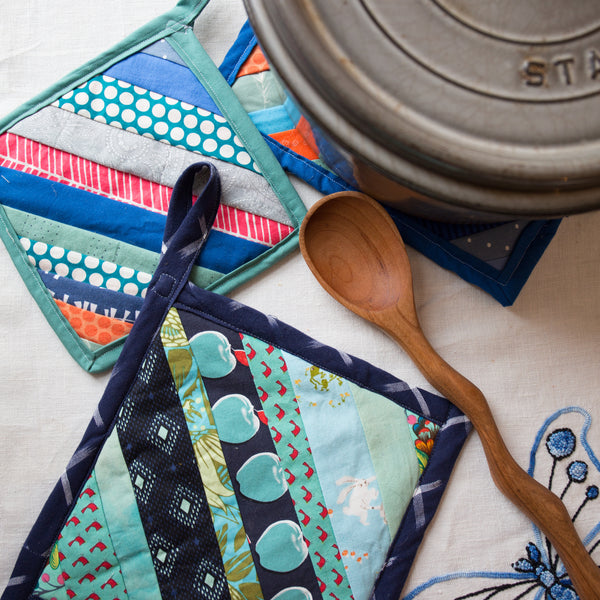 Taproot at Home :: String Quilt Pot Holders