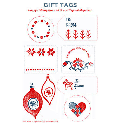 Holiday gift tags 2015 taproot magazine holiday gift tags 2015 negle Image collections