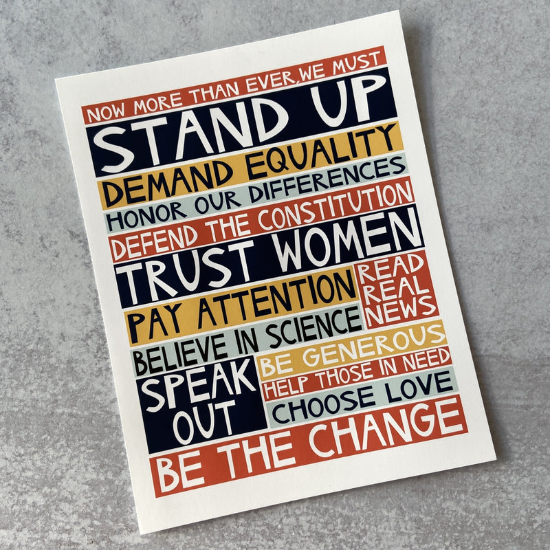 Stand Up - Print