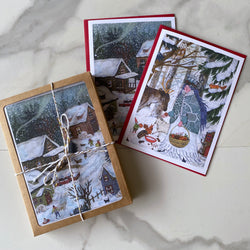 Lady Winter & Snow Day Notecard Set