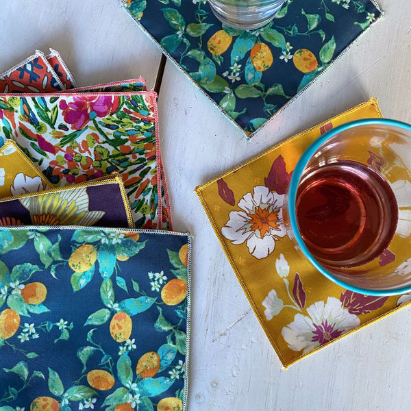 Botanical Cloth Coasters (more on the way)