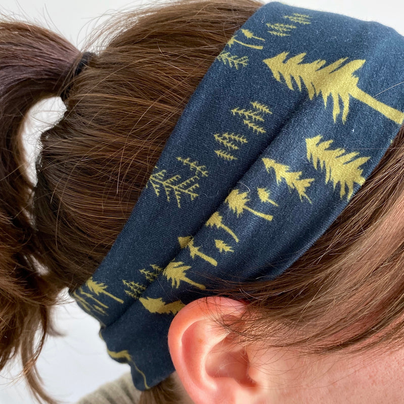 Organic Cotton Headband - Pine Forest