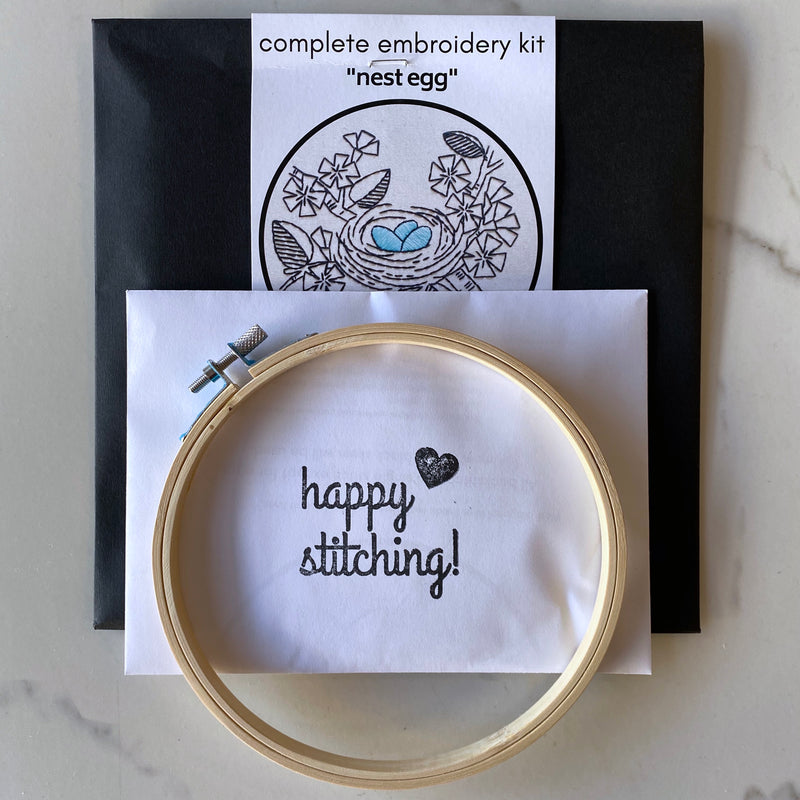 Embroidery Kit - Nest Egg