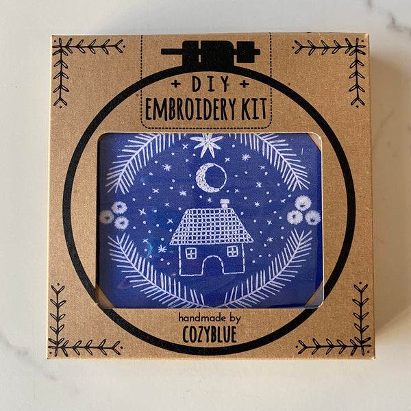 Embroidery Kit: Moonlit Home